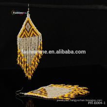 fashion design free seed bead hanging earrings