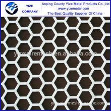 China manufacturer hexagon perforated aluminum composite wall sheet panels
