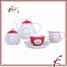 Vajilla de porcelana de cerámica china conjunto de 4