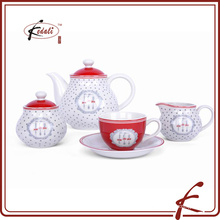 Ensemble de vaisselle en céramique en porcelaine chinoise de 4