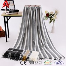 China factory aoyatex 100% polyester woven acrylic warm blanket