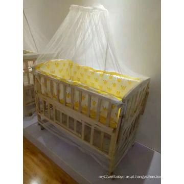 Bebê, madeira, cama, pano, cobertura, berço