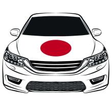 La coupe du monde 100*150 cm drapeau du japon drapeau de capot de voiture drapeau de moteur les tissus élastiques peuvent être lavés