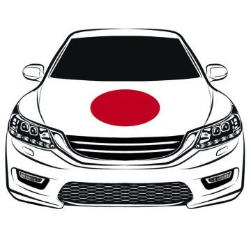 The World Cup100 * 150cm Japan Flag Car Hood flag Motor Flag Elastic Tecidos podem ser lavados