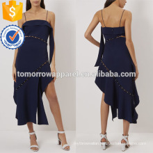 Navy Strapless Smooth Crepe Evening Dress Manufacture Wholesale Fashion Women Apparel (TA4063D)