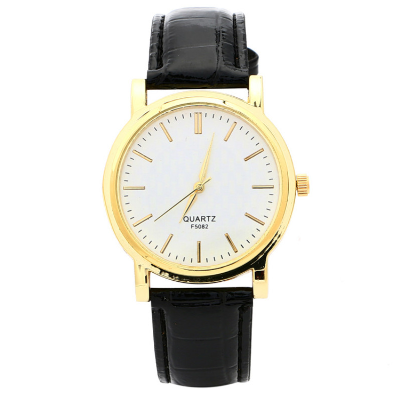 Simple Style Women Leather Wrist Watch