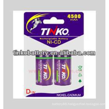 nicd rechargeable battery size D