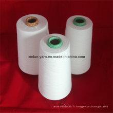 Fils en polyester / coton mélangés 32s pour le tricot à la main, le tissage