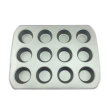 12 Tassen Muffin-Kuchenform aus Kohlenstoffstahl