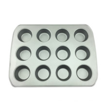 12 Cups Carbon Steel Muffin Cake Pan