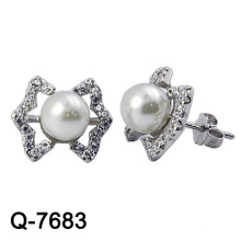 Nice Design 925 Sterling Silver Pearl Earring Studs