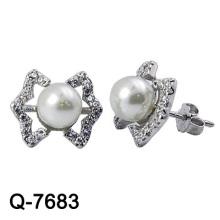 Design agradável 925 Sterling Silver Pearl Earring Studs