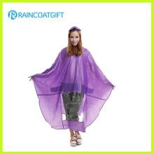Poncho de lluvia transparente de PVC para bicicletas