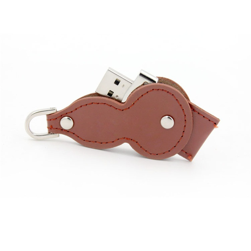 Giveaways Leather Gourd Usb Flash Drive