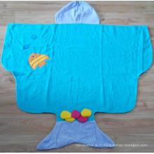 (BC-KB1008) Haute qualité 100% coton Terry Kids Cute Bathrobe