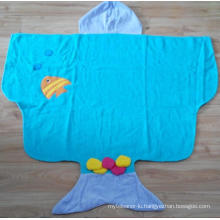 (BC-KB1008) High Quality 100% Cotton Terry Kids Cute Bathrobe