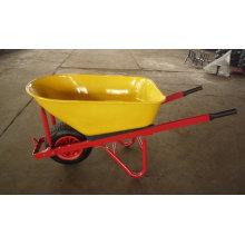 Roda grande, bandeja grande do metal, resistente, único carrinho de mão de roda