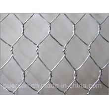 Malla de alambre de pollo y red de alambre de hierro hexagonal galvanizado