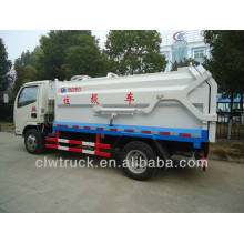 Dongfeng 4m3 side loader garbage truck, 4x2 compactor garbage truck