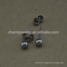 BXG023 Stainless Steel Round ball Posts Pin earring stud Nickel Free earring findings for Jewelry-Making