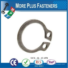 Fabriqué à Taiwan Circlip Intérieur en acier inoxydable externe inversé