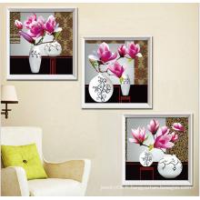 Images de mur 2015 moderne triptyque peintures d'art de fleurs pour imprimer 5d diy peintures en diamant par nombres