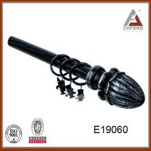 E19060 de alta calidad de la barra de cortina de resina finial, barra de cortina
