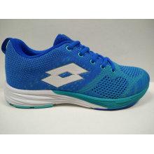 High Quality ODM/OEM Customized Women Blue Knit Footwear