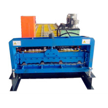 Trapezoidal steel sheet roof tile roll forming machine