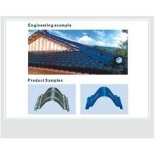 telha de telhado de metal máquina/cume tampa rolamento máquina/telha vitrificada máquina de fabricação