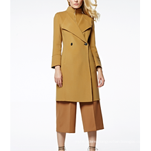 17PKCSC006 women double layer 100% cashmere wool coat