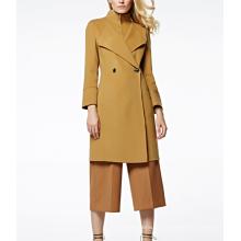 17PKCSC006 mulheres camada dupla 100% casaco de lã de caxemira