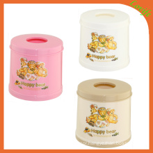 Conical Round Top Plastic Tissue Box (FF-5011-3)