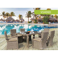 High Quality Constructure Rattan Furniture/Rattan Dining Set