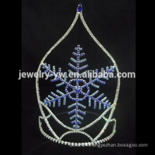 Hot wholesale Pretty beauty pageant snow crown tiaras