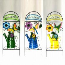 """Décoration de jardin en métal Arrosage W. """"Bienvenue"""" Fence Craft"""