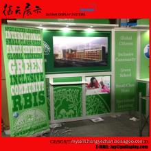 6x6 20x20 Big Green Changeable Shanghai Exhibit Display Stands