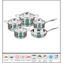 10PCS Decal Coasting Stainless Steel Cookware Set