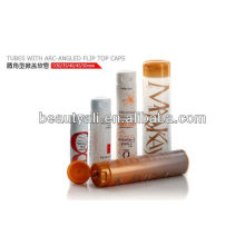Clear plastic tube for pharmaceutical product