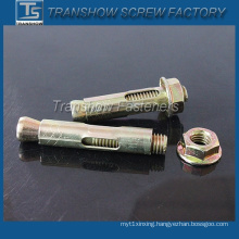 Yellow Zinc Plated Flange Nut Sleeve Anchor