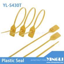Réglables haute sécurité sceau en plastique avec métal verrouillage (YL-S430T)