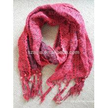 Femmes hiver perles Forme acrylique tricotée longue écharpe pendentie