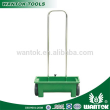 12L Manual Fertilizer Spreader Seed Spreader lawn mower/lawn roller/garden walk fertilizeer spreder with wheel