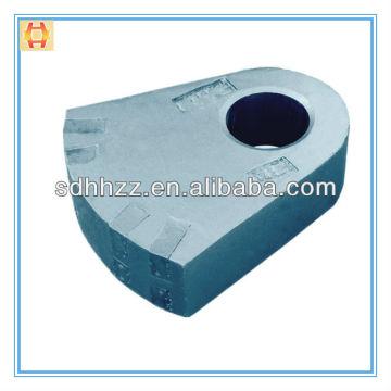 Elenco da liga de manganês elevado aço martelo martelo triturador