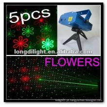 5PCS laser mini luz Projector fogos de artifício e flores palco iluminação Club Bar