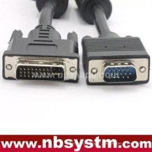 Câble mâle VGA 15 broches mâle à DVI 24 + 1 broche mâle