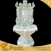 Western White Marble Water Fountains With Stone angle