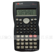 12 + 10 dígitos 240 Función Calculadora científica de pantalla de 2 líneas con cubierta trasera deslizante (LC750A)