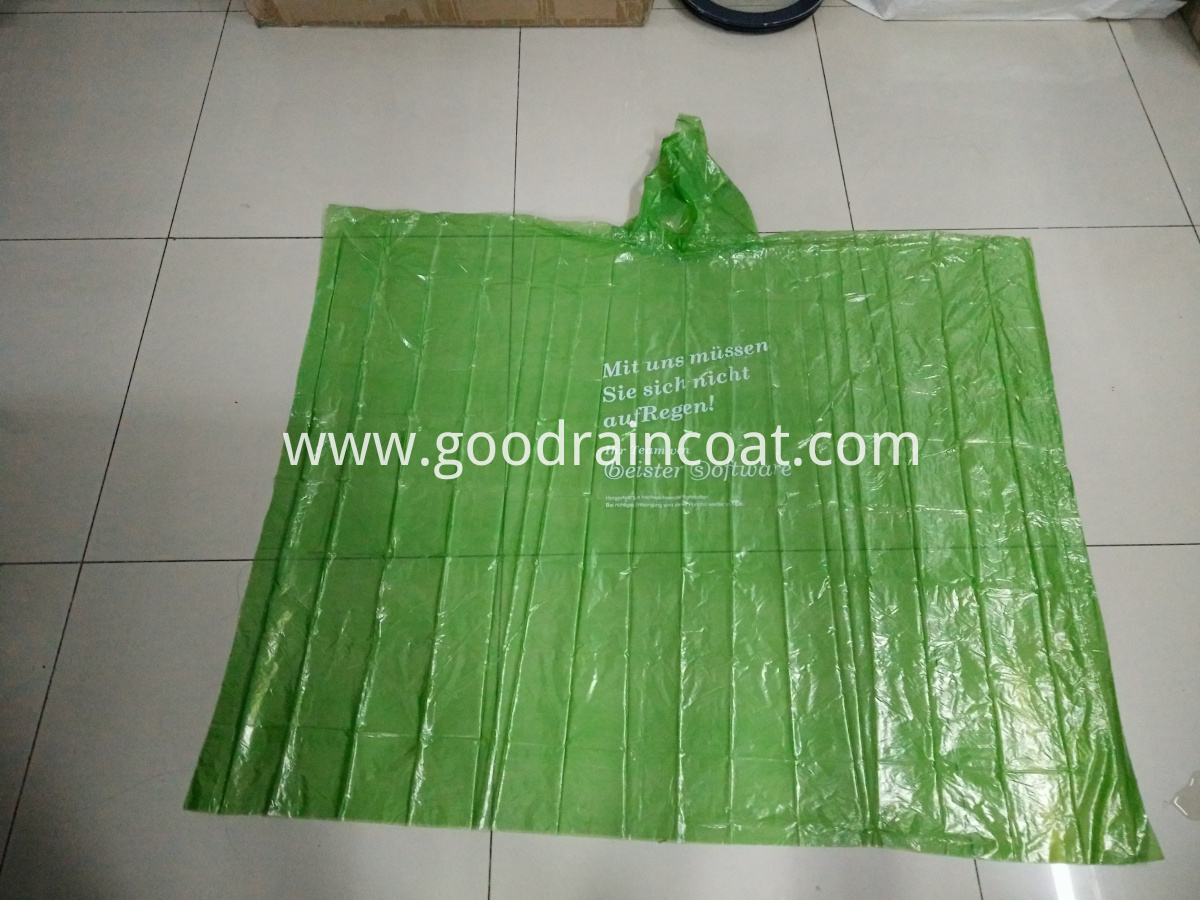 PLA green poncho with logo