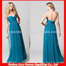 HB0079 2014 Hot Sale Sweetheart decote comprimento natural do comprimento da cintura vestido de dama de honra turquesa de tul vestido de frete grátis